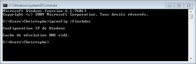 Vider le cache DNS sous Windows