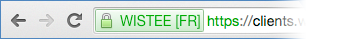 Certificat SSL avec barre d'adresse verte (EV)